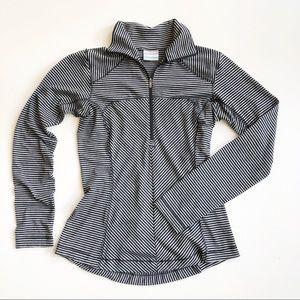 Columbia Half Zip Pullover Long Sleeve Striped Top